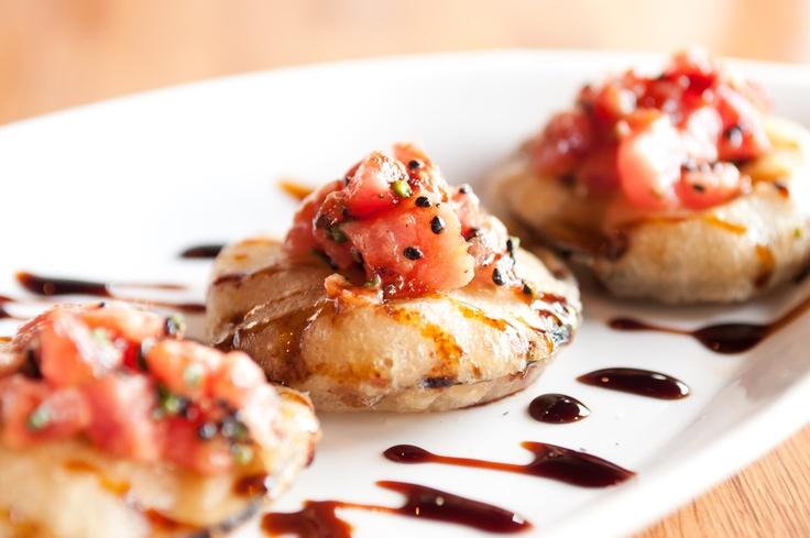 Spicy Bigeye Tuna on Tempura Eggplant | .:: Japanese Food and Drink ...