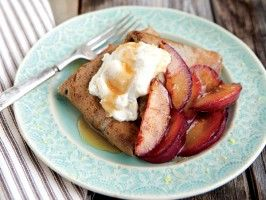 Buckwheat Crepes with Honeyed Ricotta and Sauteed Plums from ...