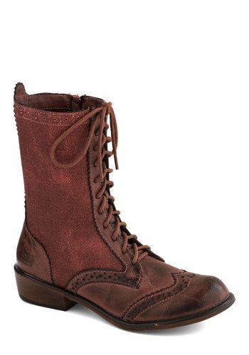 Weatherworn Report Boot in Rust, #ModCloth