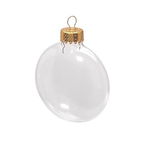 Clear Glass Disc Ornaments