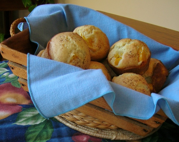 Peaches and Cream Muffins | Breakfast Stuff | Pinterest
