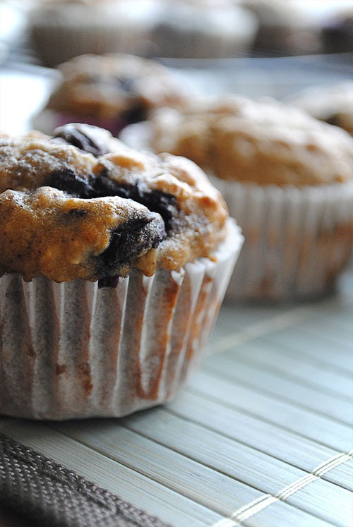 Banana Blueberry Crumb Muffins: Delicious and Low calorie.