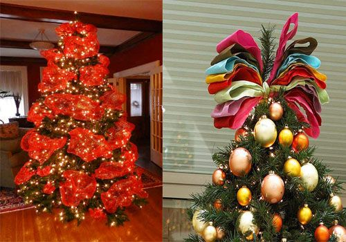 Christmas Tree Decorating With Ribbon Ideas : Christmas tree decorating ribbon ideas for creative
