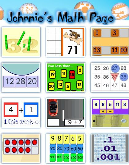 Johnnie's Math Page is the place to find hundreds of fun and engaging math activities for students and their teachers.
