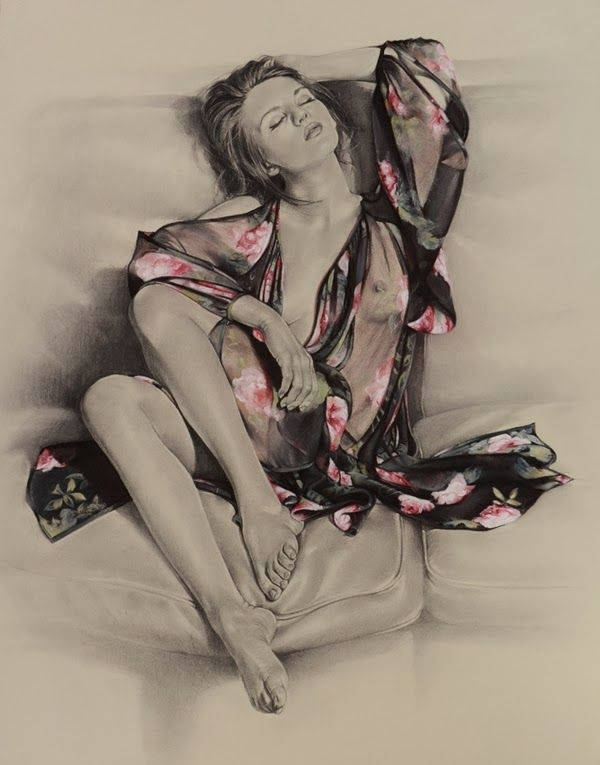 Rose | Charcoal & Pastel on PAper | 127 x 103 cm | SOLD