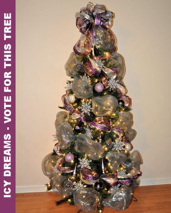 Deco mesh tree decorating pinterest deco mesh christmas tree deco mesh