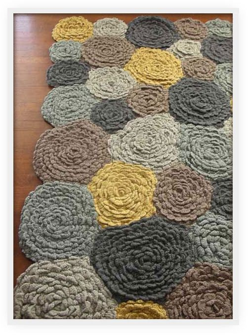 Crocheting A Rug : Crochet Rug DIY Pinterest