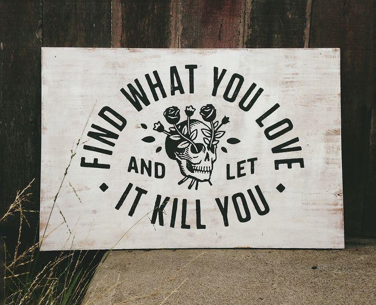 Kill Love Sign by David M. Smith