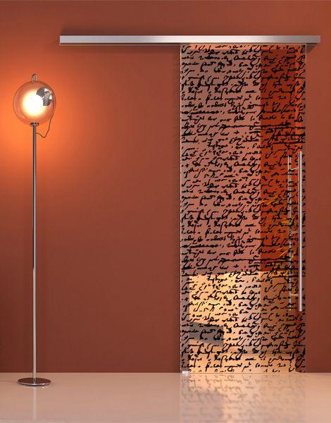 written-upon glass door