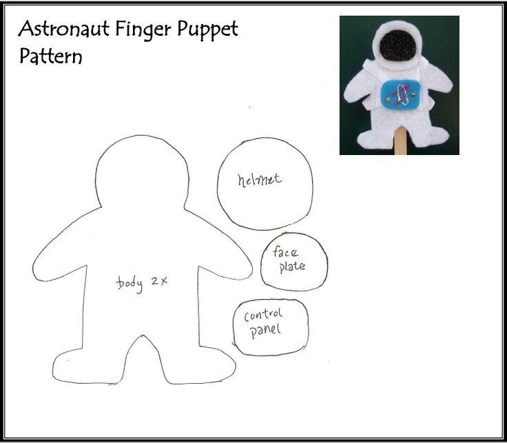 Astronaut Puppet Template