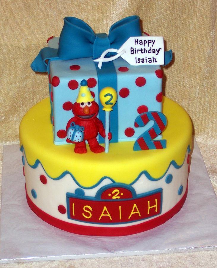 CCers for inspiration. Elmo cake for lil baby boy. red velvet cake ...