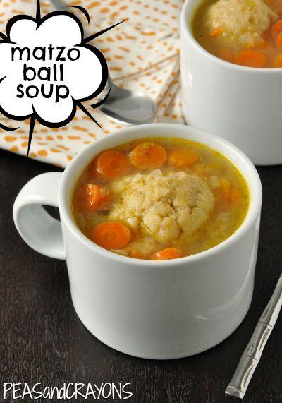 Matzo Ball Soup http://www.peasandcrayons.com/2012/11/matzo-ball-soup ...