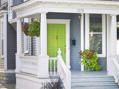 Bright Green House Lime Green Front Door Google Search Home Pinterest