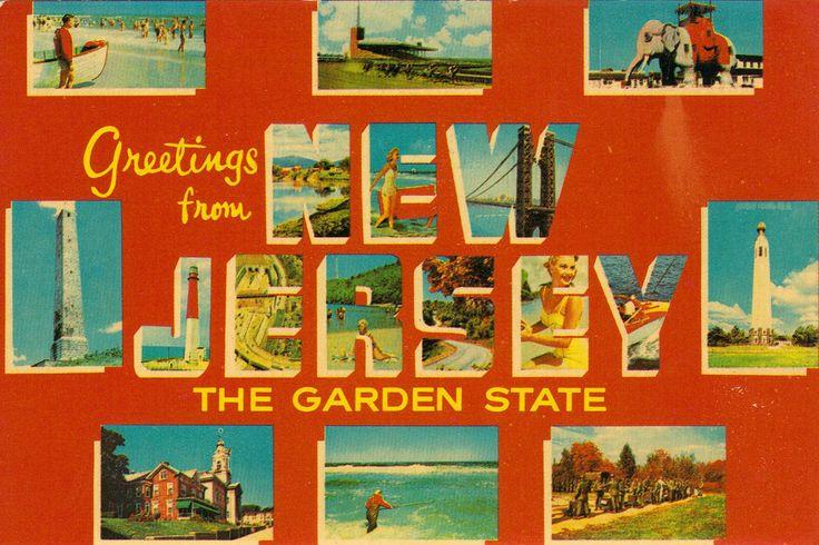 Garden State Collage Postcard