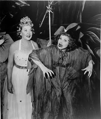 Vivian Vance And Lucille Ball On Halloween The