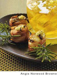 Prosciutto Scallop Pops with Lemon Artichoke Pesto | Recipe