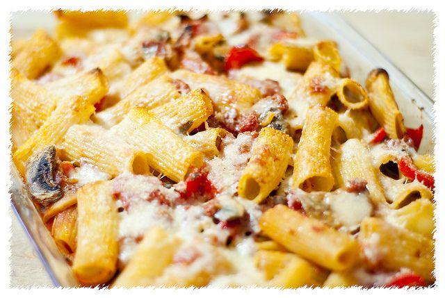 Prosciutto & Eggplant Rigatoni Bake by psilovetocook | Italian Recipes