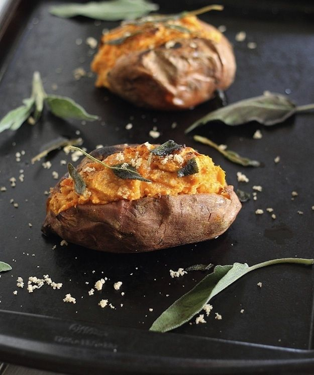 Baked Sweet Potatoes with Cinnamon Cashew Cream-Perfect Baked Potato ...