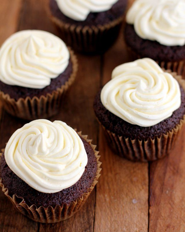 Guinness Stout Chocolate Cupcakes with Bailey's Irish Cream Frosting