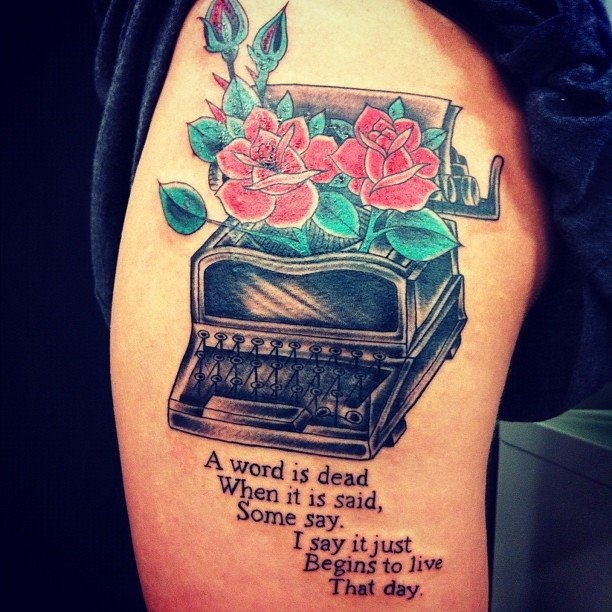 Emily Dickinson tattoo (anyone know who the artist is?)