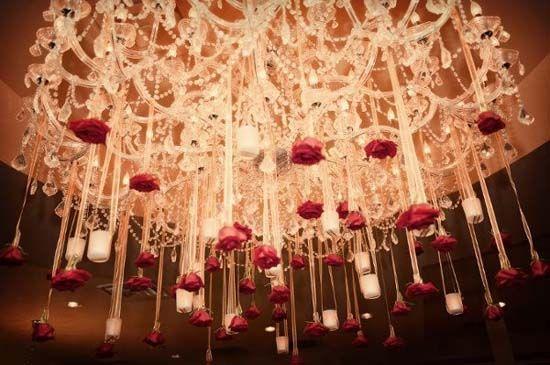 hochzeitsdeko-rose-rot-lampe-dekoration  Rosa Hochzeit  Pinterest