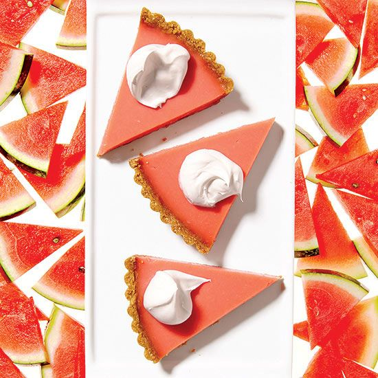 Get your potassium fix in this Watermelon Pudding Tart