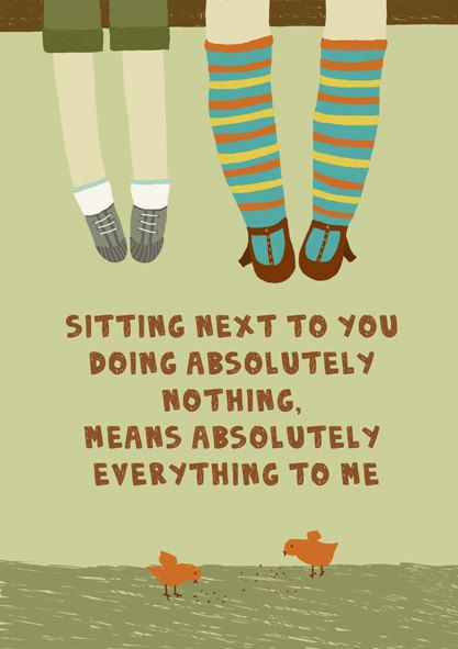 Sitting next to you.