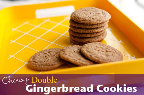 Chewy Double Gingerbread Cookies - Zak Designs Mealtime Blog
