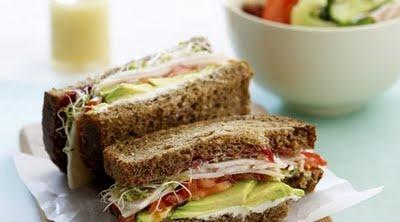 Turkey, avocado and cheddar sandwich | Food | Sandwiches | Pinterest