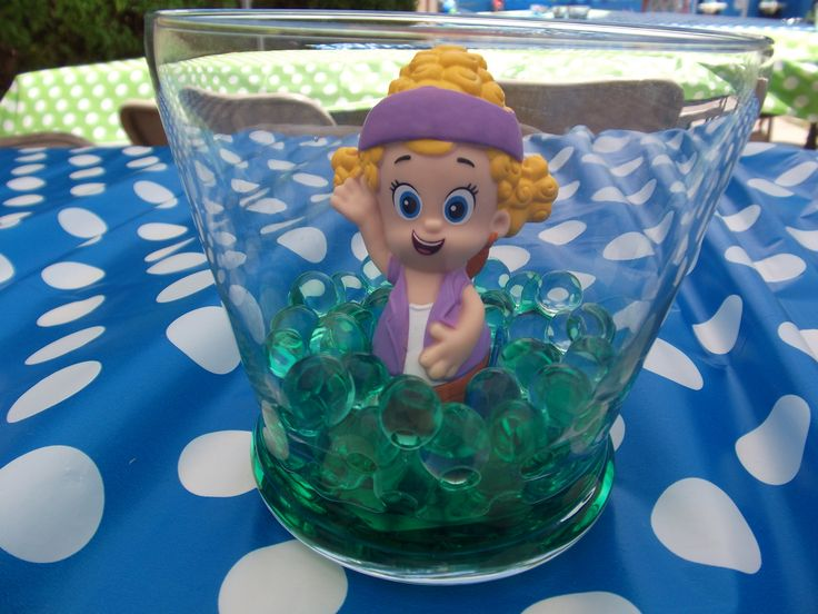 Bubble guppies centerpieces hannah 39 s birthday ideas pinterest - Bubble guppies center pieces ...
