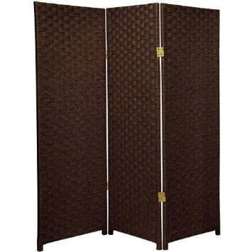... ft. Tall Woven Fiber Room Divider-  Studio apartment design ideas