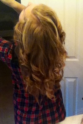 Hair curled with straightener | Cat