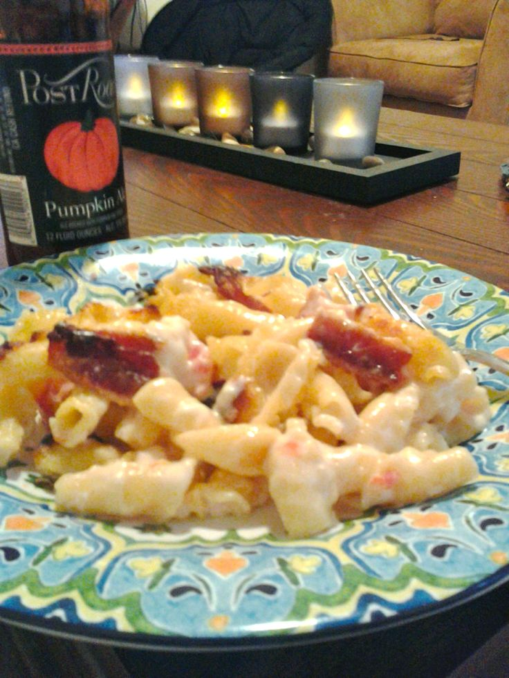 Ina Garten's penne with five cheeses...plus bacon. One of my favorites ...