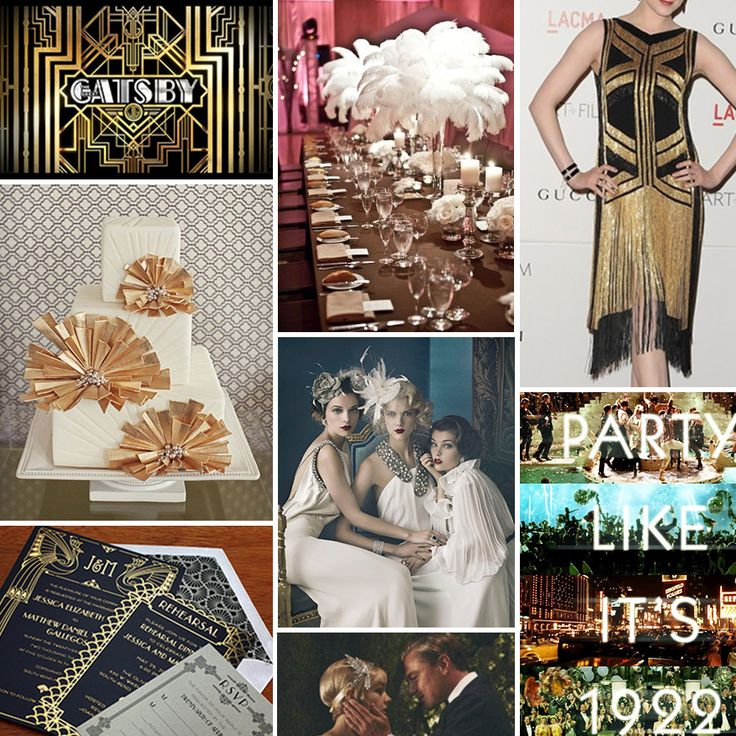 Gatsby event and party ideas pinterest for Art deco party decoration ideas
