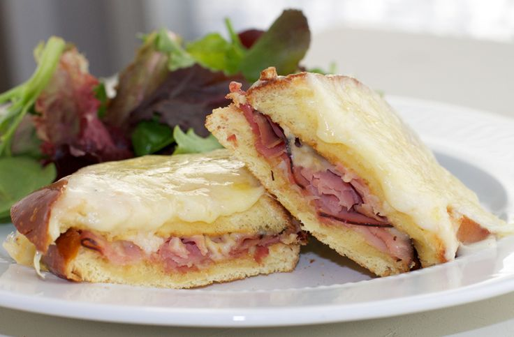warm ham and cheese with a French twist, the Croque Monsieur ...