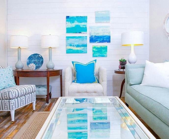 colorful beach themed living room beach pinterest
