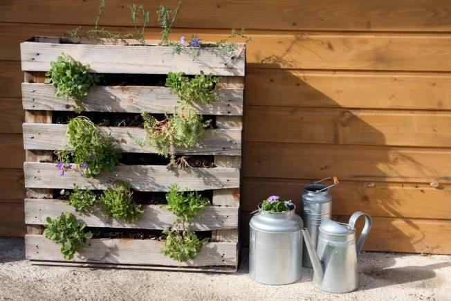Jardinière palette par debobrico !  Jardin  Pinterest