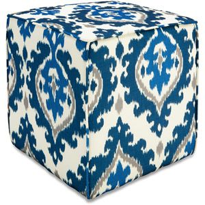 Better Homes and Gardens Pouf Ottoman, Ikat Medallion