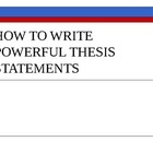 write a strong thesis