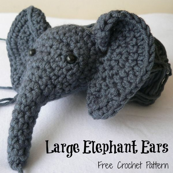 Large Elephant Ears Large Crochet Elephant Ears (Amigurumi ...