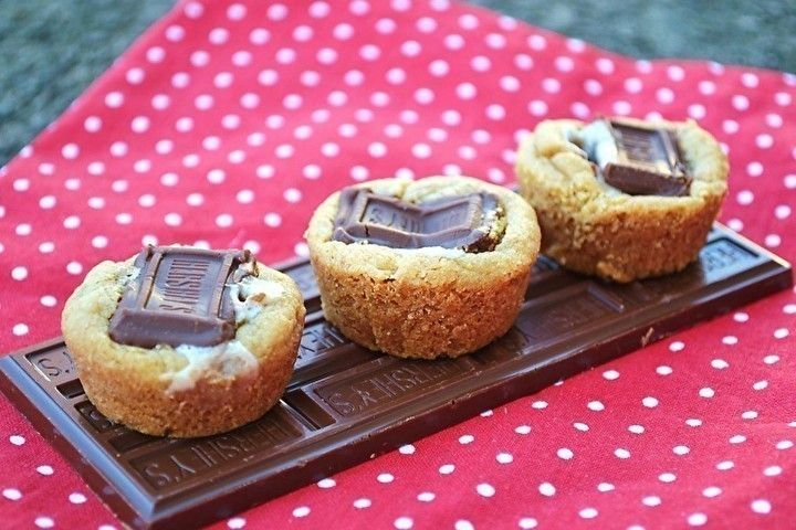 mores Mini Cookie Cups | Recipes - Cookies, Candy, Bars, Little ...