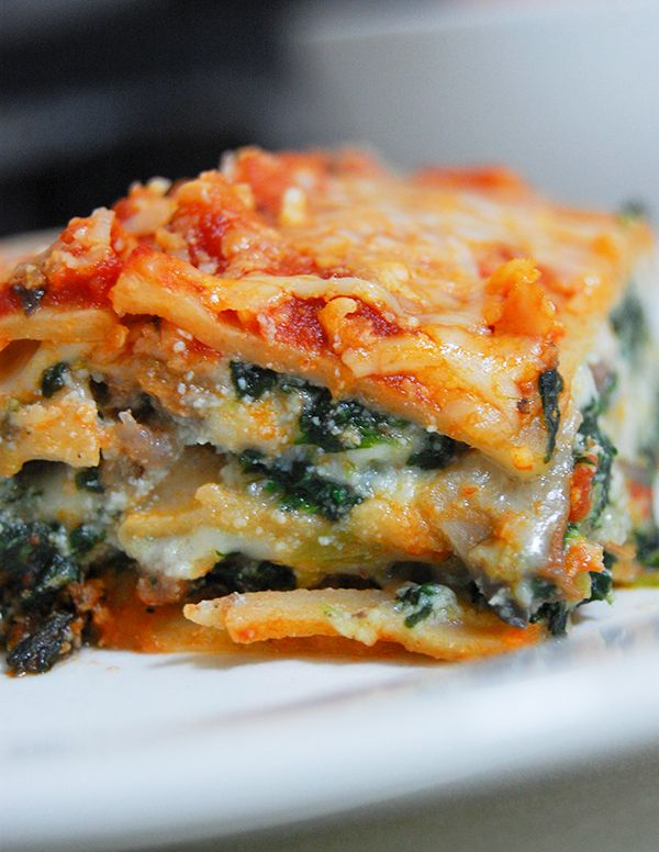 -Cal/Low Fat Lasagna? Yes, it's possible! Try this Lean Beef, Spinach ...