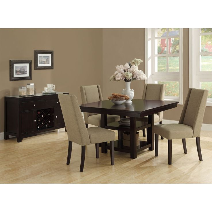 square dining table espresso images