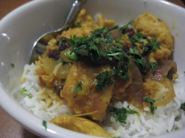 Chicken curry in a hurry from Food.com