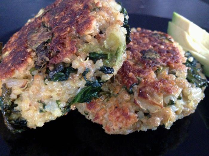 Quinoa and Kale cakes Recipe | Kale | Pinterest