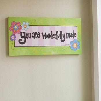 Wonderfully Made - Gallery Wrapped Canvas Print