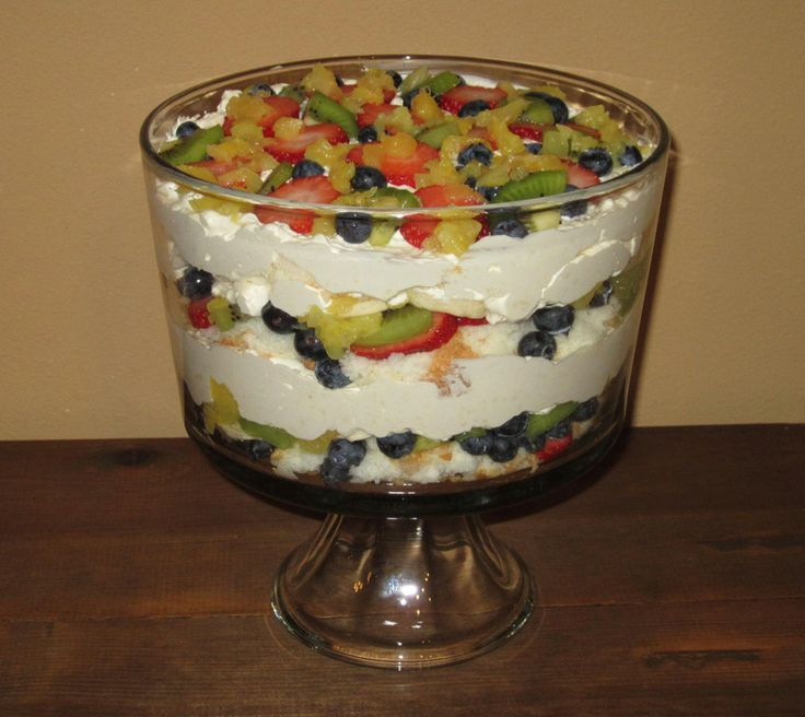 and blueberry trifle angel fruit trifle recipes dishmaps berry trifle ...