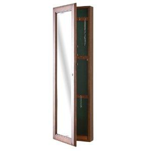 With Full Length Wall Mirror Storage : SEI Wall-Mount Jewelry Armoire with Mirror, Walnut (Kitchen) http ...