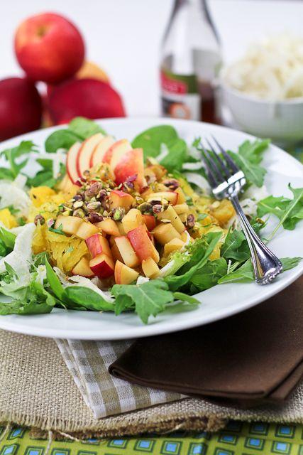 Spaghetti Squash, Shaved Fennel and Warm Apple Salad   Recipe