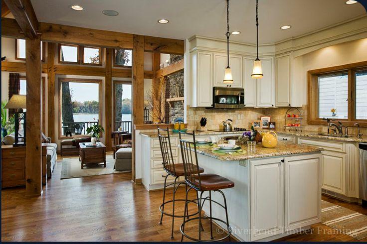 Timber Frame Kitchen Home Dream Home Pinterest